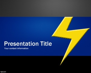 Thunder PowerPoint Template is a free PPT template with thunder image and blue background with gray color