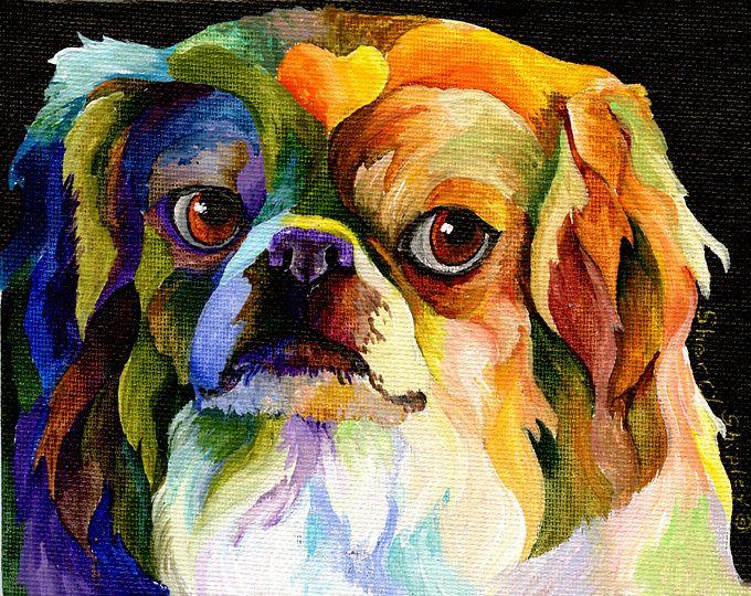 Impresión del arte de Jerez Shipley Pekinés del perro 8 x 10