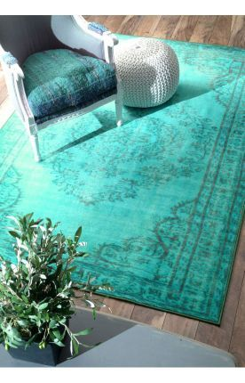 $5 Off when you share! Rugs USA Winsdor Overdyed Grove Turquoise Rug - pretty close to saying yes, but in a more mellow color.