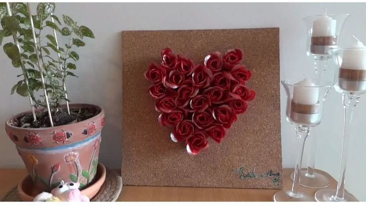 Valentine's day simple room decor DIY #1