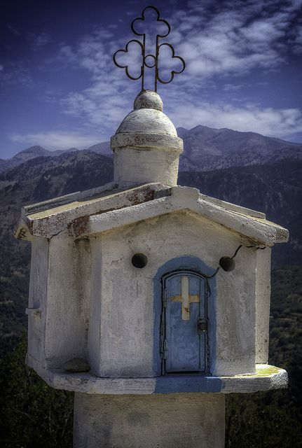 Roadside Shrines - Crete, Greece by Andi Campbell-Jones,