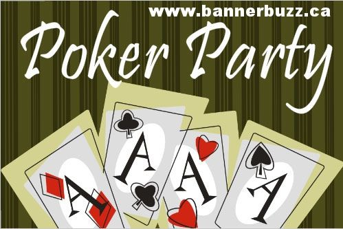 Lets Print Poker Part Banner Printing service online from www.bannerbuzz.ca