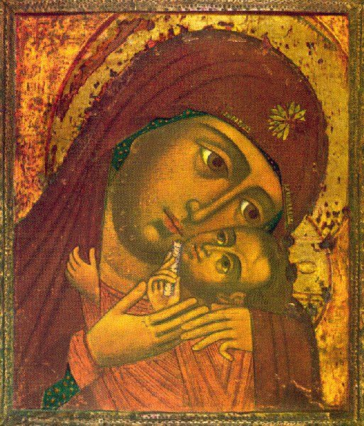 icon of mother of god whit blue maphorion - Cerca con Google