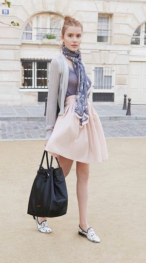 Wearing Karole Skirt by #Repetto - Collection fall-winter 2015 http://bit.ly/1NCtgrU