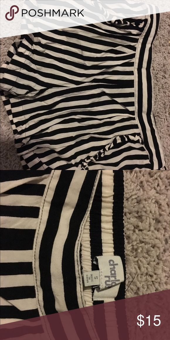 Shorts Charolette Rouse black and white stripped float shorts. Cute for a night out or to wear for a coverup to the pool charolette rouse Shorts