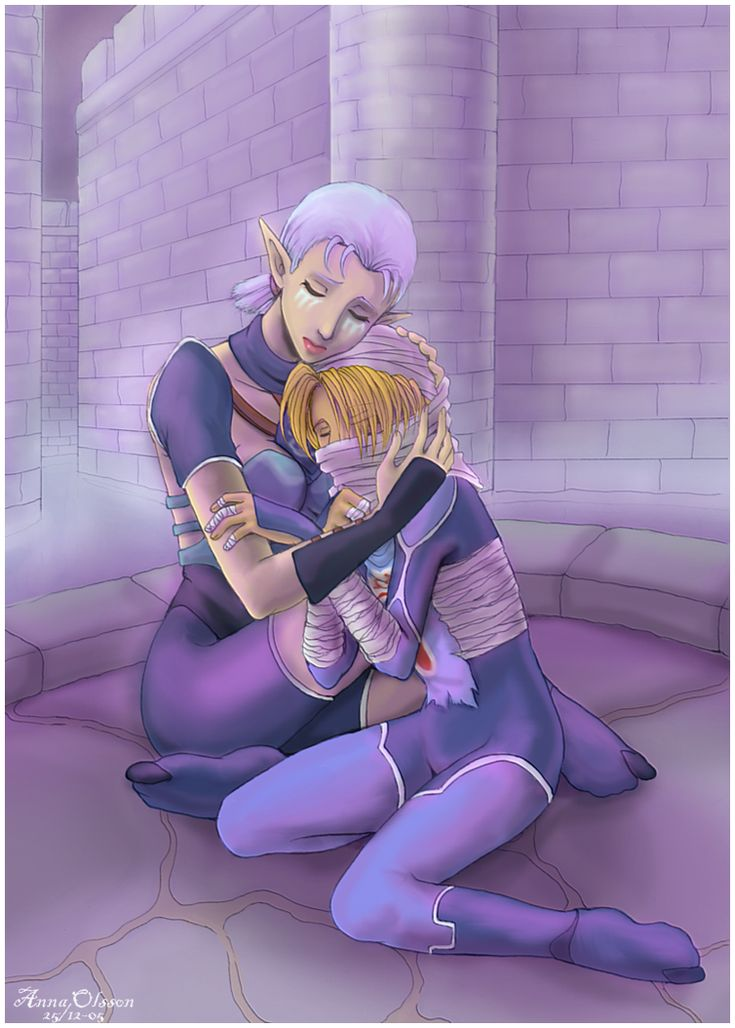 I can almost hear Impa consoling Zelda for having to see so much :(