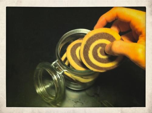 Chocolate et orange vortex cookies