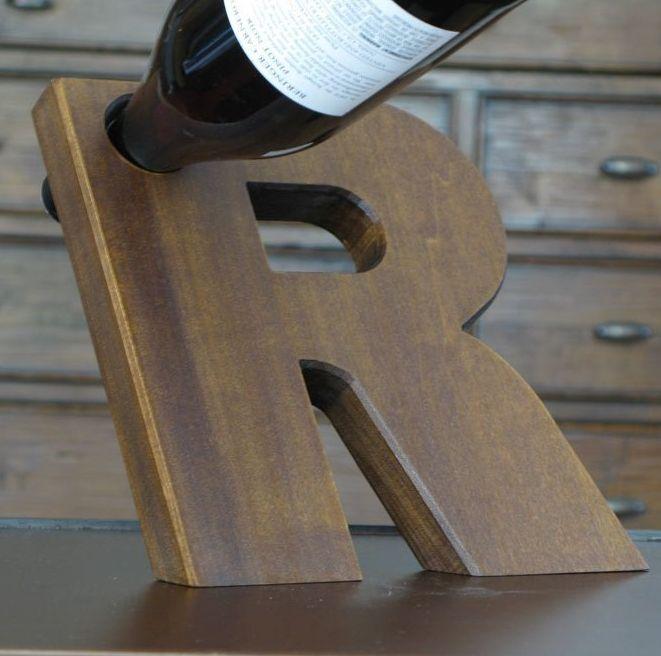 Balancing wine bottle holder honey do list pinterest - Wine bottle balancer plans ...