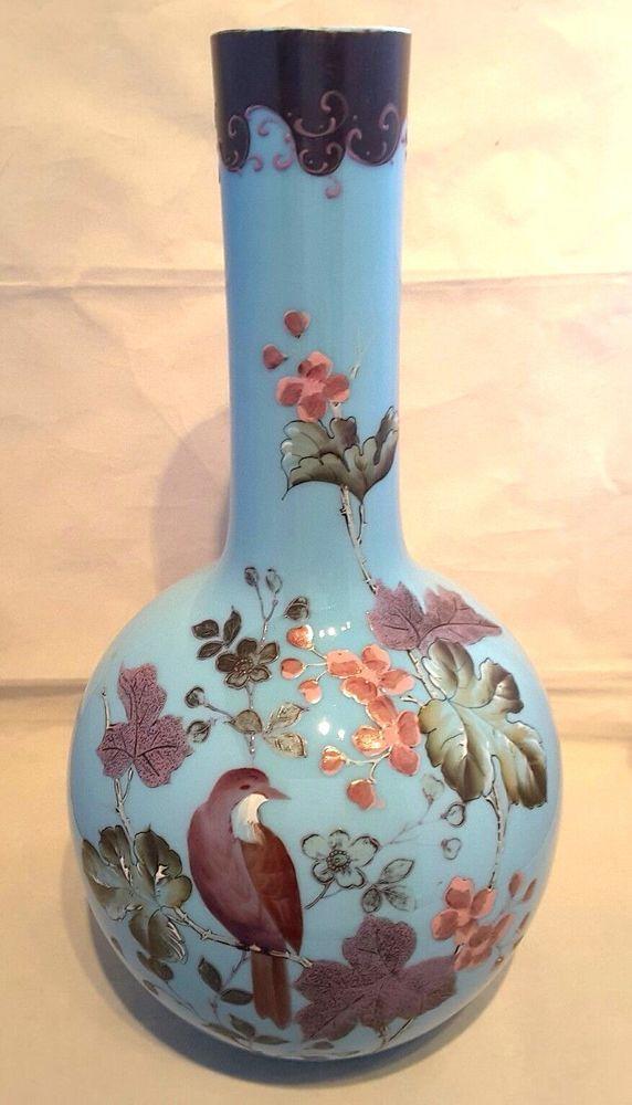 "#Victorian~#Antique~#Blue~#Pink~#Bird~#Flowers~#Vase~13.5""H  #Seraphimslair See #Etsy #eBay #Twitter #Facebook & #Instagram for #antique, #vintage & #modern #art #glass, #ceramics, #collectibles & #gifts! https://www.ebay.co.uk/usr/seraphimslair2 https://twitter.com/Seraphimslair https://www.instagram.com/seraphimslair5stars/ https://www.etsy.com/uk/shop/seraphimslair https://www.facebook.com/seraphimslair/ #USA #UK #CHINA #EUROPE #STYLE #STYLISH #FASHION #POTTERYBARN #XMAS #ASIA #THAILAND"