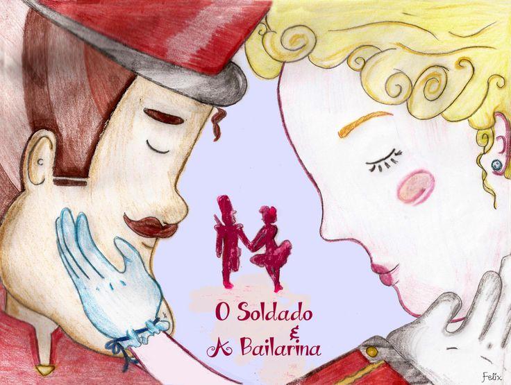 """Espetáculo infantil """" O Soldado e a Bailarina"""", na versão do grupo Centauro de Teatro."""