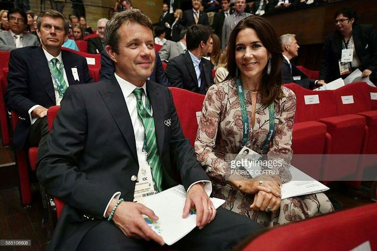 Crown Prince Frederik Crown Princess Mary of Denmark, Grand Duke Henri of Luxembourg and Prince Albert II of Monaco in Rio de Janeiro Brasil