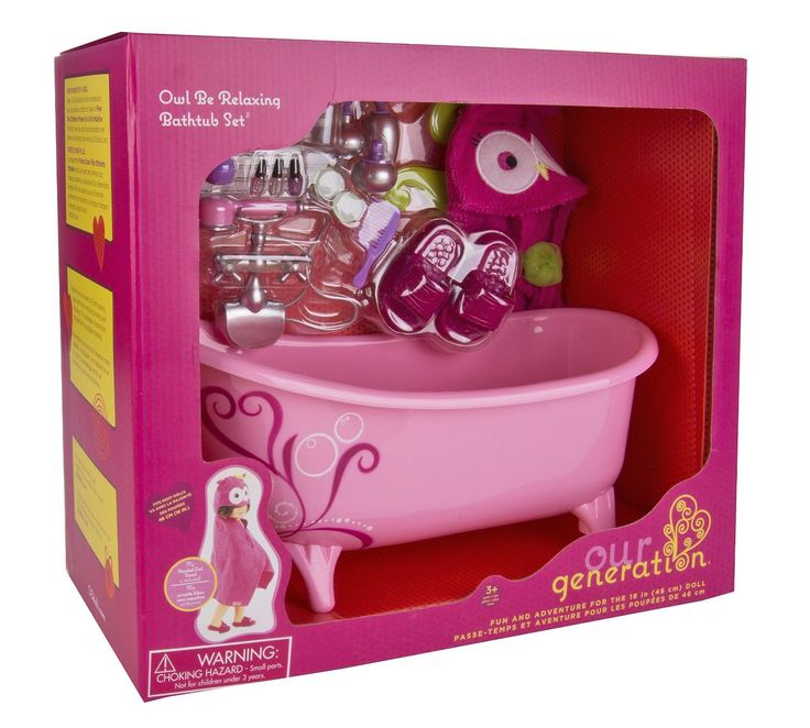Our Generation Owl be Relaxing Bathtub Set | OG Doll Owl be Relaxing Bathtub Set | Dolls Bath Tub Set| from Our Generation UK Authorised reseller