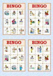 English worksheet: Job Bingo!!