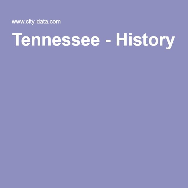 Tennessee - History