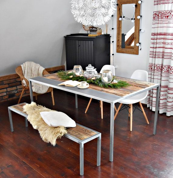 Hand Crafted 6 seater farmhouse rustic by MadeFromWoodDesigns