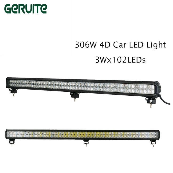 75.01$  Watch now - http://ali4dj.shopchina.info/1/go.php?t=32810552744 - New 2pieces/lot 306W 102 x 3W 4D Car LED Light Bar 60 Degree 4D led car Flood Light/Spot Light for Jeep SUV ATV TRUCK lamp car  #buyininternet