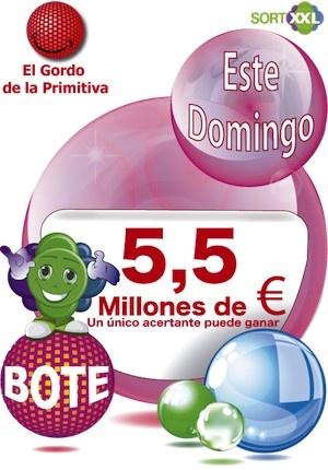 Apuesta con nosotros y GANA......!! https://www.sortxxl.com/gordo_primitiva.php Tambien con la APP: https://play.google.com/store/apps/details?id=com.oz.sortxxl Domingo 26 de Mayo
