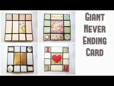 Infinite Flipper Never Ending Card Diy Handmade Tutorial By