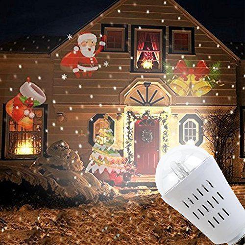 Projecteur Exterieur LED Noël Etanche Projecteur de Lumière Extérieur et Intérieur En Motif Clochette Lampe Décorative Eclairage Parfait…