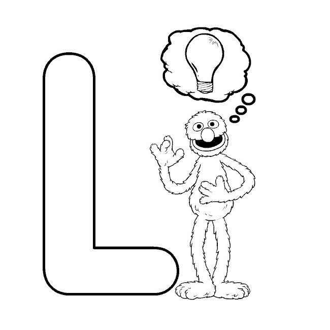 Buchstabe Letter L Ausmalbilder Kinder Alphabet Buchstaben