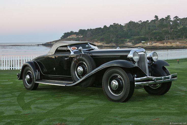 1932 Chrysler Imperial LeBaron Roadster Black Steel