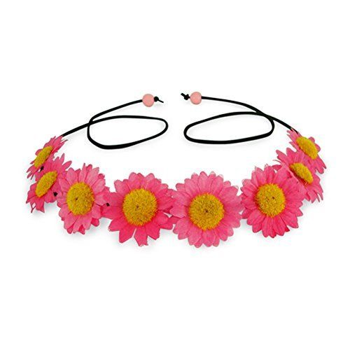 23.99$  Buy now - http://vicgy.justgood.pw/vig/item.php?t=30p03j133 - Craze Pink Daisy Floral Crown Headband