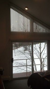 pictures of contemporary vertical blinds on angled windows - Google Search
