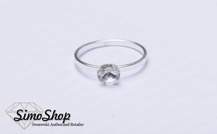 Inel cu cristal swarovski și bază din argint 925! #simoshop #bijuterii #accesorii #argint #swarovskicrystals #swarovski