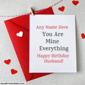 Special Happy Birthday Cards For Husband With Name