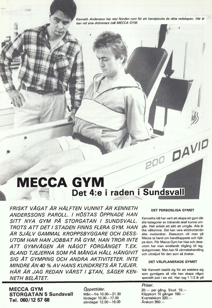 Sweden Sundsvall - Mecca Gym 1985