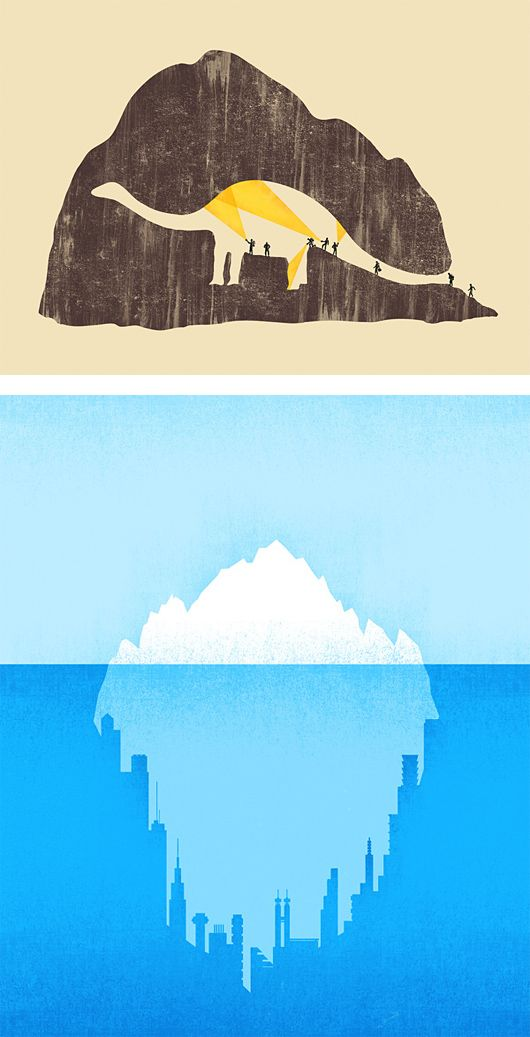 Negative Space Illustrations by Tang Yau Hoong | Inspiration Grid | Design
