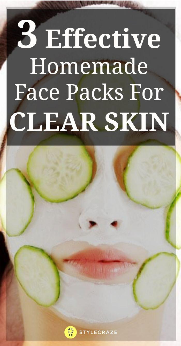 Homemade facial pack