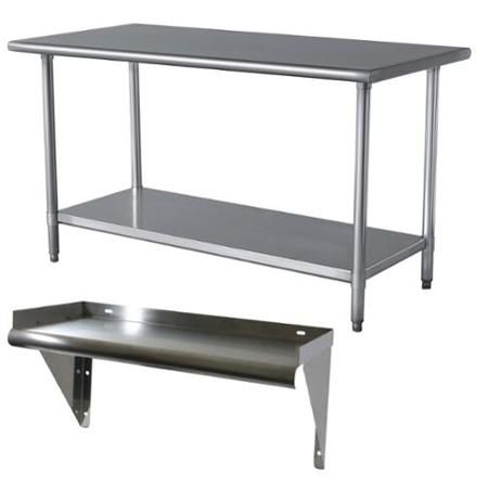 Stainless Steel Work Table And Shelf   Walmart.com