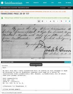 Submitted transcription for Smithsonian Transcription Centre Freedmen's Bureau Project