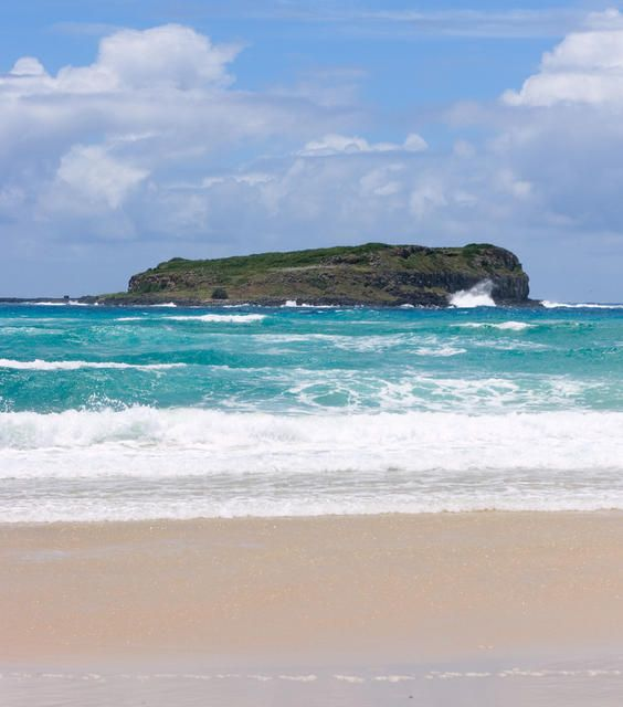 Cook Island off Fingal Head NSW.  See http://www.bigvolcano.com.au/places/kingscliff.htm for more info.