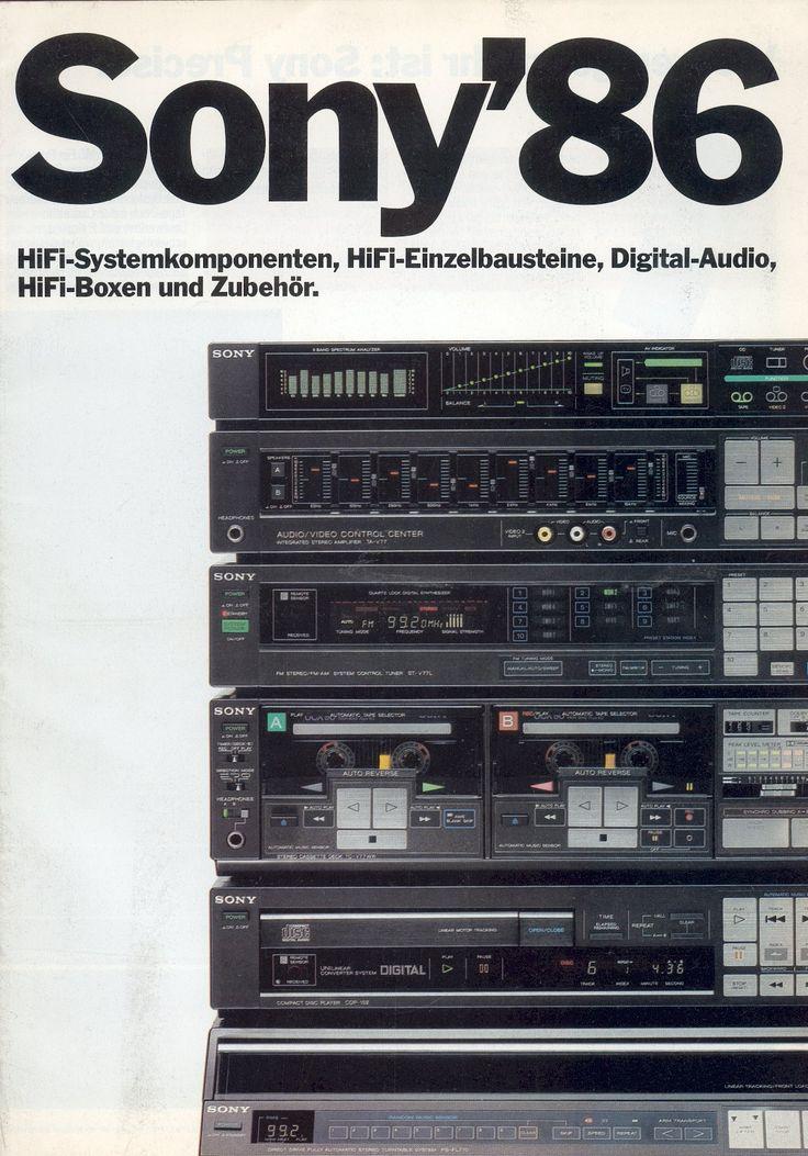 Sony HiFi catalogue (1986)
