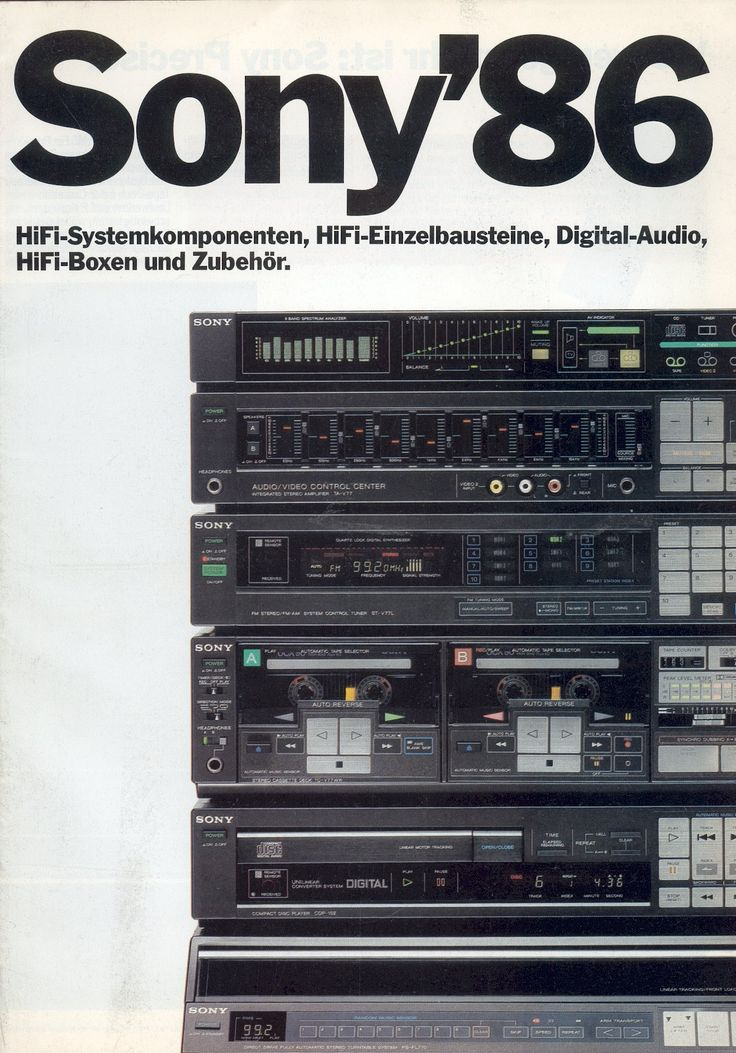 Sony Hifi Catalogue 1986 1980s Japanese High Tech