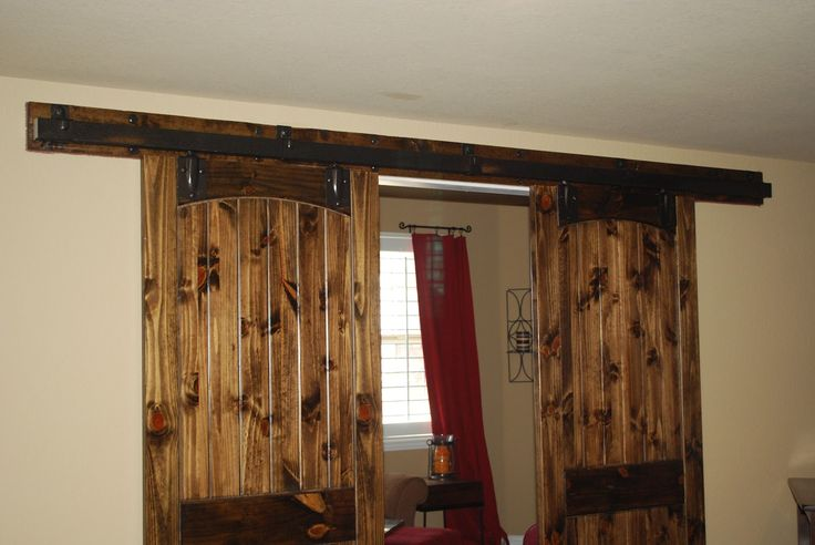Barn door window covering window treatments pinterest for Barn door window covering