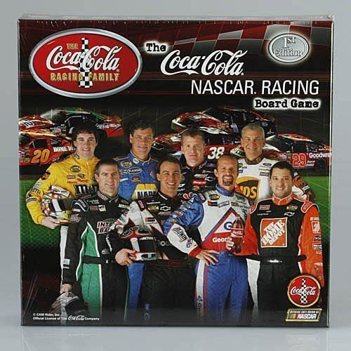 "Coca-Cola NASCAR Racing Board Game by Tar Heel Games. Save 67 Off!. $9.95. Original & Collectable NASCAR Racing Board Game 2005 Version - 1st Edition. Featuring Dale Jarrett, Elliot Sadler, Jeff Burton, Kevin Harvick, Kyle Petty, Michael Waltrip, Bobby LaBonte and Tony Stewart. Great fun, innovative & strategically challenging! Autographed photos and fun facts about the Coca-Cola family of drivers. The game is beautifully packaged in a 12"" X 12"" X 2.5"" compartmentalized box with mini…"