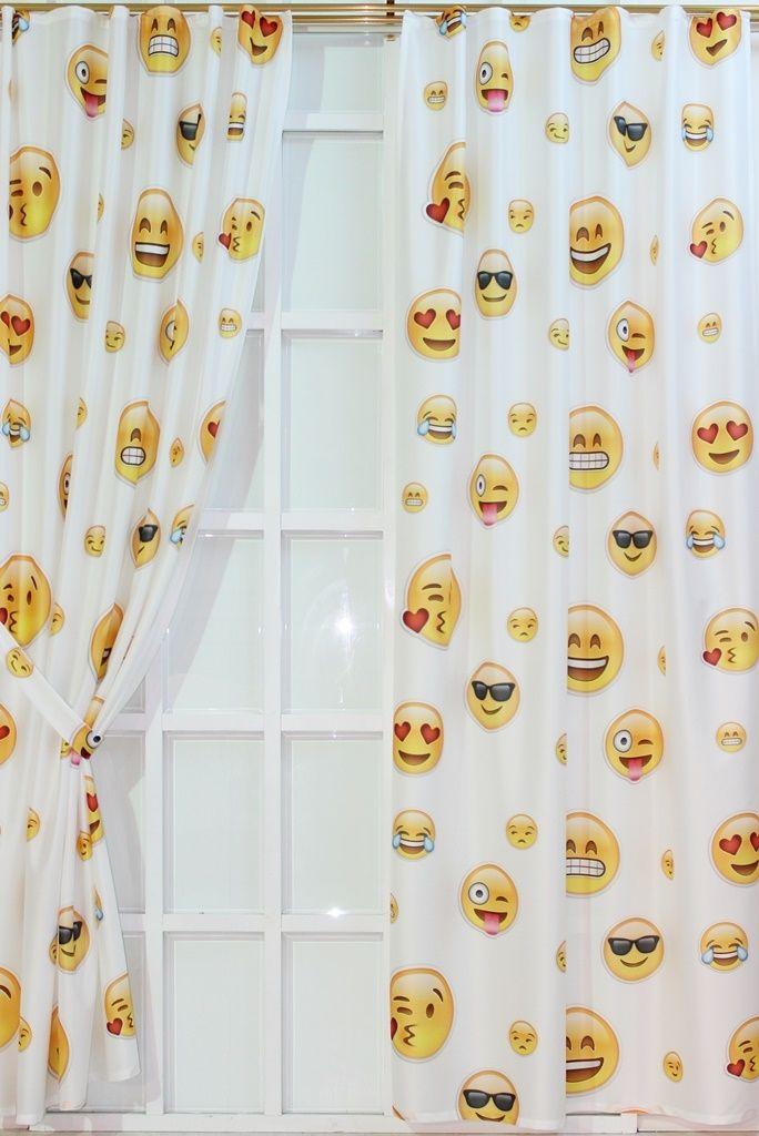 Emojili Raşel Fon Perde | Emoji | Moda Fabrik