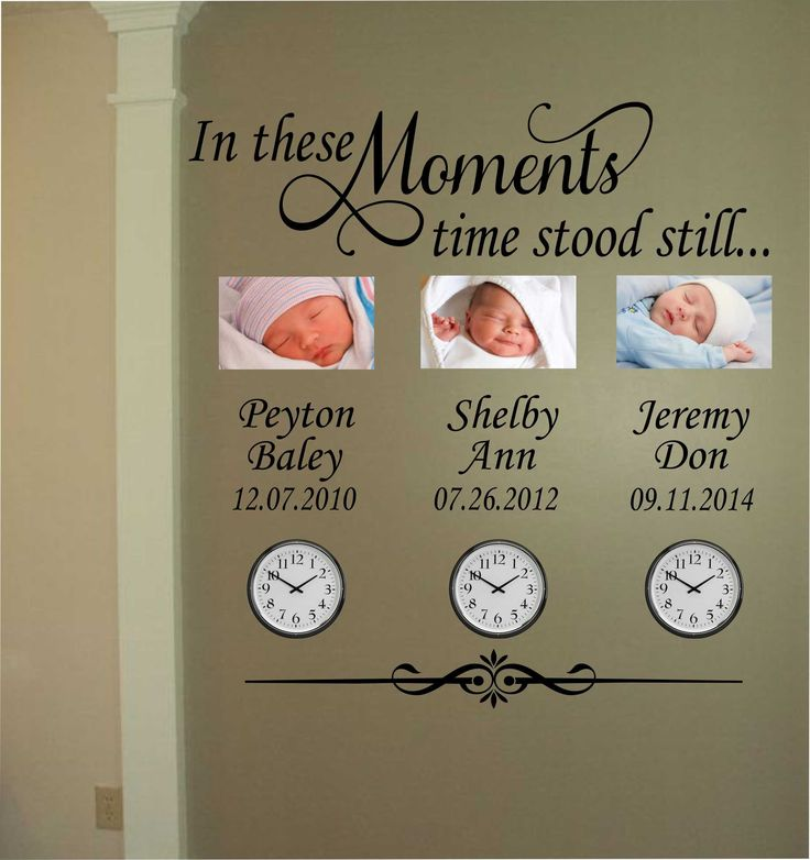 Vinyl Wall Lettering In These Moments Time Stood Still Decal for Clock Photo Display