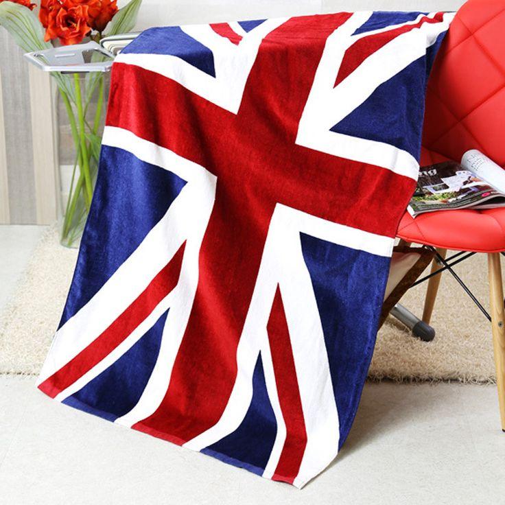 2016 Sale Hot Sale Polyester / Cotton No Winter Jacket Men Bath Towel Towel Cotton Uk Flag Printing Bath Us Free Shipping