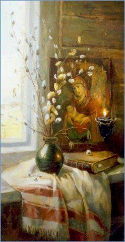Тоненьким прутиком з вербовим котиком  вітаємо легеньким дотиком… Радісну вістку говоримо, Що день великий не за горами, Що вже за тиждень буде Великдень!Ukraine, from Iryna with love