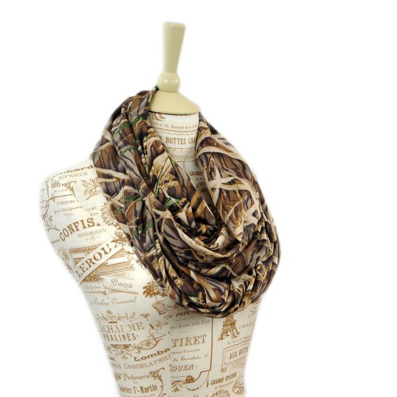 Mossy Oak Scarf Camo Infinity Camouflage RealTree on Etsy, $22.00