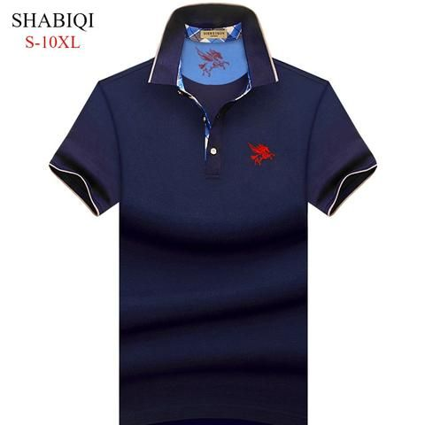 6b99c826b08 Big Man! S-10XL . 2018 NEW Men Polo Shirt Summer Short Sleeve Polos Shirt  Mens Camisa Polo 95%Cotto Baseball coat Pure color