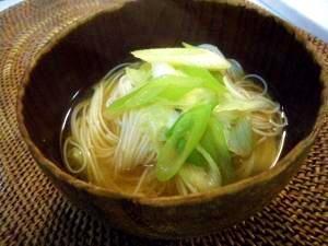 """""""Miso soup of thin wheat noodles"""" そうめんの味噌汁☆ツルツルっと~♪/味噌汁"""