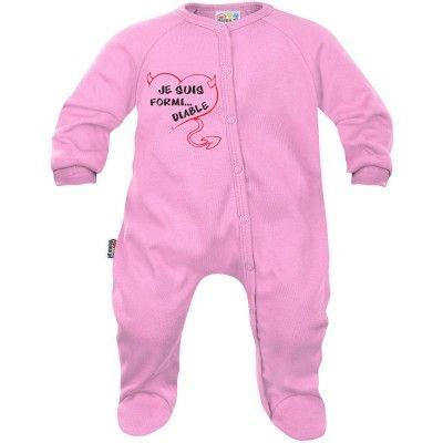 Pyjama bébé humour : je suis FORMI... DIABLE (7 coloris)