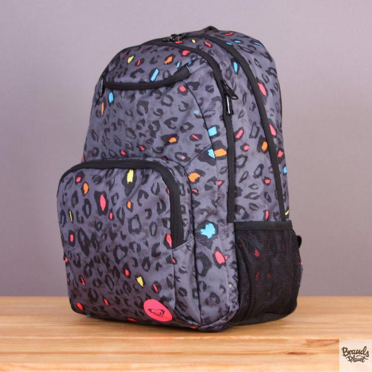 Plecak szkolny lub na wycieczkę Roxy Shadow Swell Armoy - szary w panterkę  / www.brandsplanet.pl / #roxy