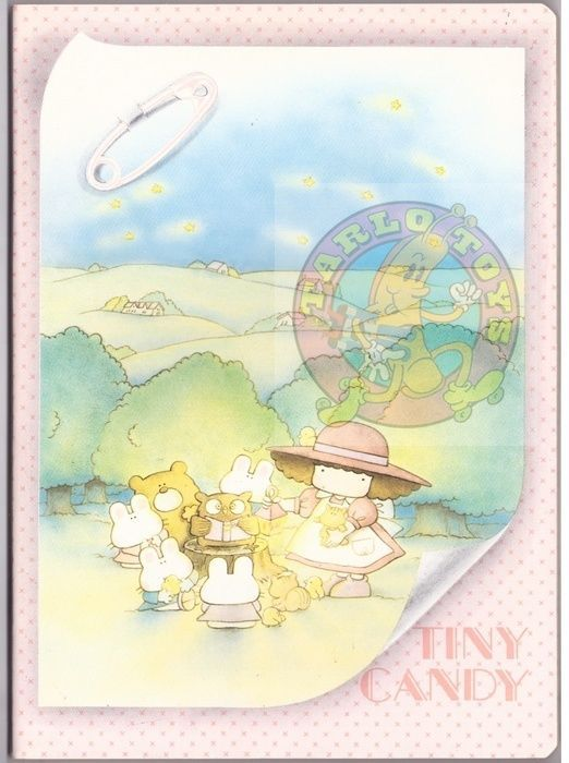 TINY CANDY 80s Gakken Mondadori italy notebook school - quaderno scuola 018