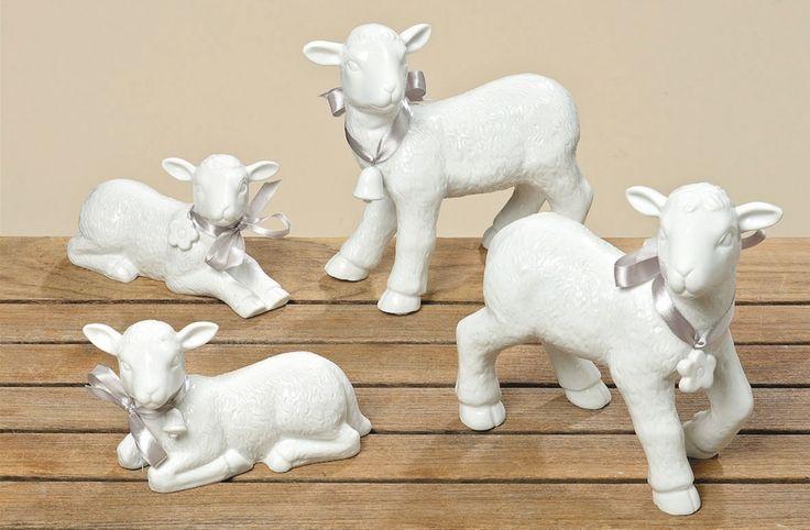 Baranek porcelanowy leżący duży, dekoracje wielkanocne, wielkanoc, ozdoby na wielkanoc, święta. Zobacz więcej na: https://www.homify.pl/katalogi-inspiracji/21991/wielkanocne-gadzety-6-propozycji